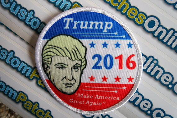 Iron On Patch 2016 Election 3 Sew Trump Pence Make America Great Again