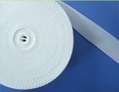 """sangle /"""" à sac /""""nylon largeur 40 mm BLANC 2 Rouleaux de 5 Mètres soit 10 mètres"""