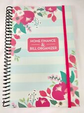 Bill Organizer Amp Home Finance Book Monthly Pockets Blue Pink Flowers New
