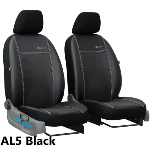 FORD TRANSIT CUSTOM 2013 ON ECO LEATHER /& ALICANTE FRONT UNIVERSAL SEAT COVERS