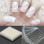 30 Sheets 3D Lace Nail Art Stickers Black White DIY Tips Decal Manicure Tools