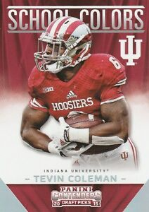 2015-PANINI-CONTENDERS-TEVIN-COLEMAN-RB-INDIANA-FALCONS-ROOKIE-SCHOOL-COLORS