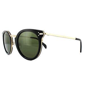 42f643d2b5d Celine Sunglasses 41373S Lea ANW 1E Black Gold Green 762753912350
