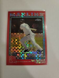 2004 Topps Chrome Red X-Fractors Florida Marlins Baseball Card #21 Luis Castillo