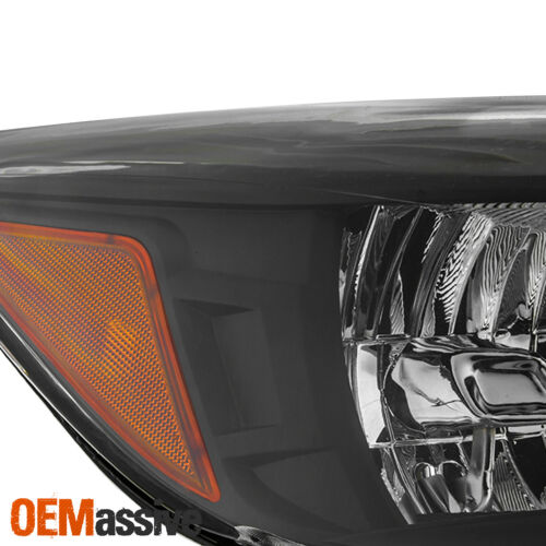 For 2013-2016 Ford Escape SUV Halogen Black Headlight Side Amber Left+Right Pair