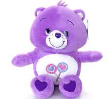 "NEW 12"" CHILDRENS CARE BEARS SHARE BEAR PLUSH SOFT TOY PURPLE LOLLY BEAR"