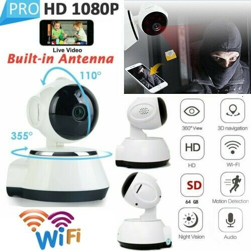 1080P HD Wireless WIFI IP CCTV Camera Smart Home Security Night Vision  Indoor SS