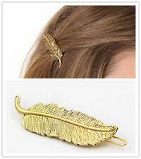 1pc Korea Elegant Leaf Style Golden Alloy Lady HairClip Hairpin Hair Accessory