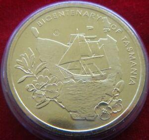 2004-Australia-Bicentenary-of-Tasmania-5-Coin-039-H-039-Counterstamp