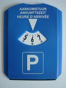 Auto-Parkscheibe-mit-Eiskratzer-und-Gummilippe-Kunststoff-Parkuhr-blau