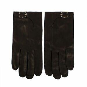 NWT-JOHN-LOBB-Black-Calfskin-Leather-With-Buckle-Gloves-Size-9-5-495