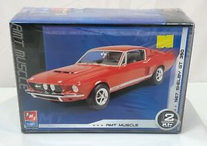 AMT-Ertl-Muscle-1967-67-Ford-Shelby-GT-350-Mustang-Model-Car-Kit-New-1-25