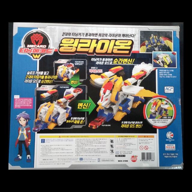 Turning Mecard W WING LION WINGLION Great Transformer Robot Car Toy Mecarnimal