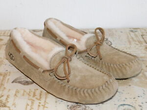 d292a9020a9 Details about NEW NWOB WOMENS SIZE 10 ANTILOPE UGG DAKOTA SUEDE SHEEPSKIN  MOCCASINS SLIPPERS