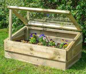 Wooden Cold Frame Garden Plants Vegetable Flower Protector