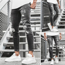 Jeanshose Röhrenjeans Straight Cut Slim Fit Hose Clubwear Herren OZONEE G//1085