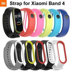 For-Xiaomi-Mi-Band-4-3-Farbe-Silikon-Watch-band-Armband-Handgelenk-Strap