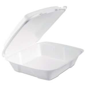 Dart 90HT1R 200-Pc. Foam Hinged Lid Containers White New