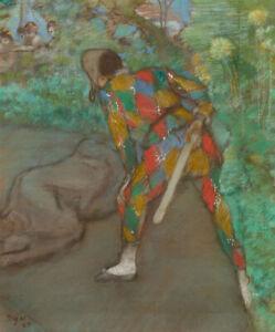 Harlequin-Edgar-Degas-Wall-Art-Print-Painting-Reproduction-CANVAS-Poster-Small