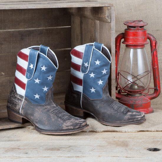Roper Bandera Americana Shorty Shorty Shorty bota  Sin impuestos
