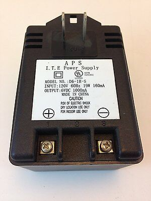 SCREW TERMINAL OUTPUTS # ZD61RS 1 PC ITE AC-DC ADAPTER 6VDC-1000 mA