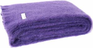 Masterweave Windermere Mohair Throw Rug Blanket Grape