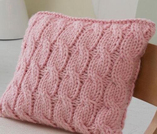 Knitting Pattern Super Chunky Cushion Cover Pattern To Knit Ebay