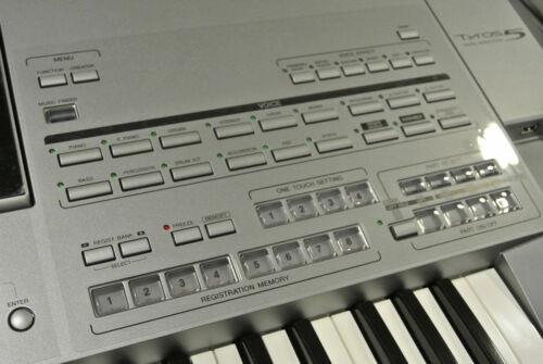 """Schutzfolie für YAMAHA TYROS 5  Keyboard /""""all over/"""""""