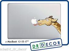 "Adesivo Giraffa ""Leccamela"" per Mac Book Pro/Air 13 - Stickers giraffe  MacBook"