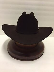 Stetson Cowboy Hat 100X Beaver CHOCOLATE Fur EL PRESIDENTE+HatBrush+ ... 31bd9106548