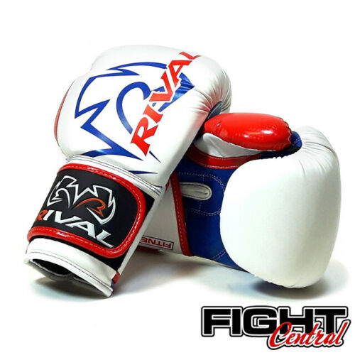White//Red MMA Kickboxing FREE P/&P Rival RB7 Boxing Gloves Muay Thai