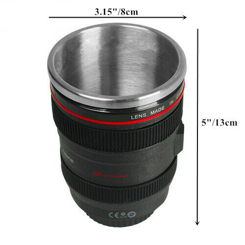 Stainless Steel Camera Len 400ML Thermos Coffee Mug Cup Christmas gift