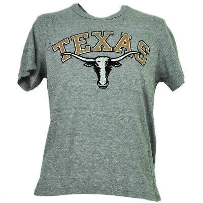 Weitere Ballsportarten UnermüDlich Ncaa Texas Longhorns Herren Erwachsene Filz Logo T-shirt Grau Kurzärmelig Sport Baseball & Softball