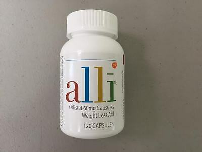 ALLL WEIGHT LOSS AID ORLISTAT 60mg 120 CAPSULES !!!! NEW !!! SEALED !!! 5/17