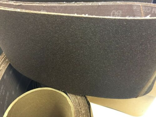 "Sancap 4/"" x 52 1//2"" 80 Grit Aluminum Oxide Cloth Sanding Belts 10 PACK USA MADE"