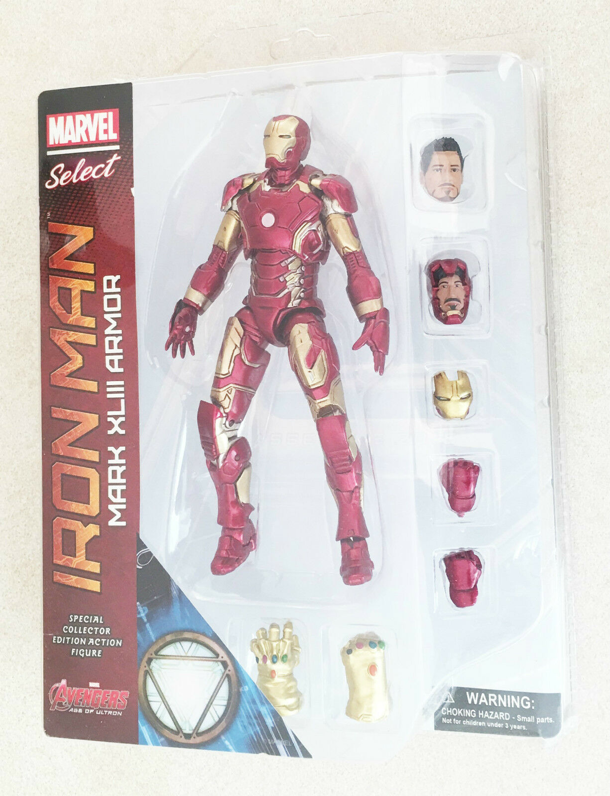 Marvel Avengers Iron Man Mark XLIII Armor PVC Ages 4+ New Toy Ironman Boys Play