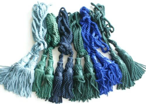 Silk Bagpipe Drone Cords Various Colours Shades of Blue /& Green