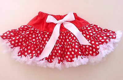 Girls Kids Toddlers Pettiskirt Tutu Dress Polka Dot Dance Party Costume