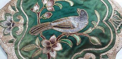 Sito Ufficiale Antico Disegno Ricamo Su Seta Con Uccello Su Tronco Con Fiori E Foglie Hangzhou