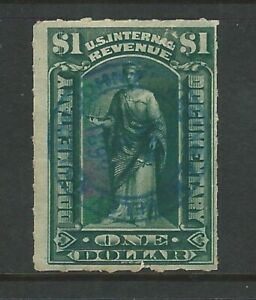 Usa: Fiscal stamp with interesting postmark. US015/
