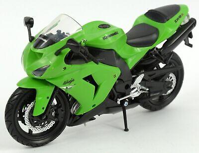 Kawasaki Ninja Zx-10r Verde Scala 1:24 Moto Modello di Atlas Die-Cast