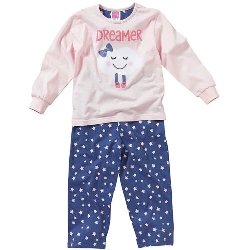 Cozy n Dozy Younger Girls Cute Dreamer Sleepy Cloud Long Sleeve Cotton Pyjamas