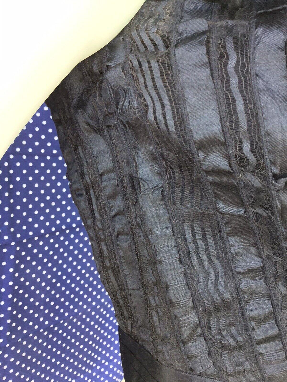 Antique Victorian 1890s 1900s Black Silk Bodice F… - image 7