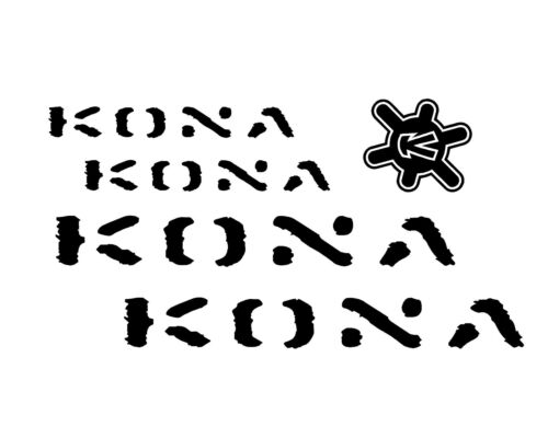 #COLORS 5 set KONA Stickers Decals Bicycles bikes sticker decal