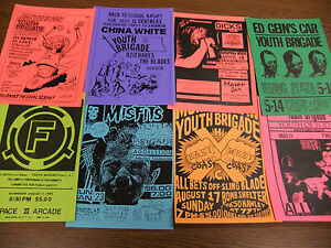 Youth-Brigade-Repo-Concert-Flyer-Lot-Sin-34-China-White-Ill-Repute-Dr-Know-COC