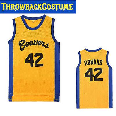Teen Wolf Scott Howard #42 Official Movie Basketball Jersey Beacon Beavers S-3XL