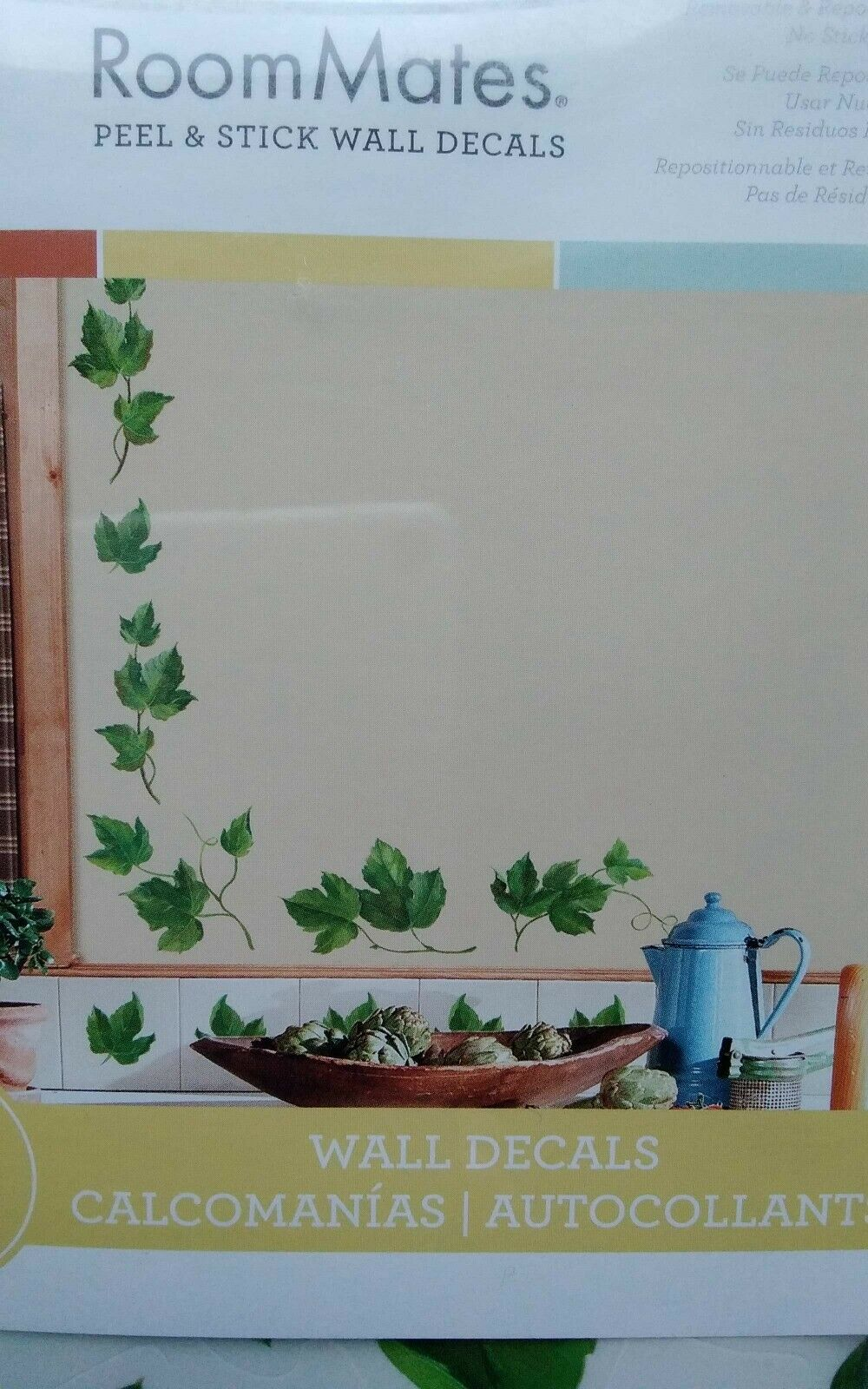 38 New Evergreen Ivy Wall Decals Country Kitchen Decor Green Leaves Border New For Sale
