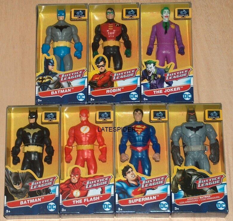 DC COMICS JUSTICE LEAGUE 6  inch figures Batman Superman The Flash Robin Joker