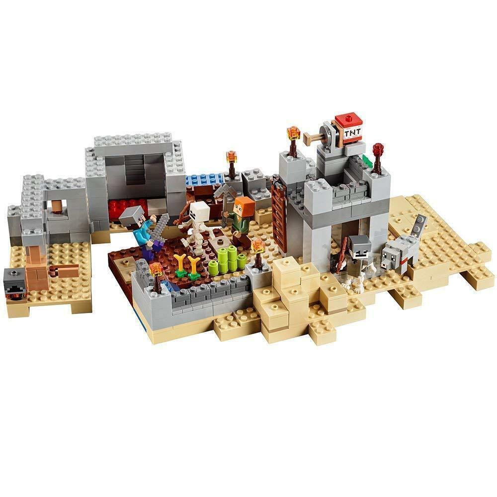 Nouveau Lego 21121 Minecraft Desert Outpost  Set 519 pièces Mine Craft Steve construire  il y a plus de marques de produits de haute qualité