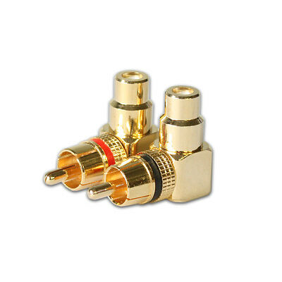 AR PRC-2011 Right Angle RCA Connector Plug Adapters Female-to-Male 90 degree